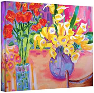 """ArtWall Susi Franco's Summer Flowers Gallery Wrapped Canvas, 18 by 24"""""""