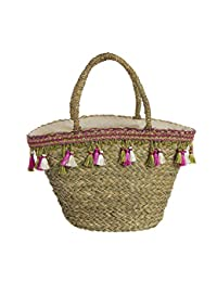 DCASA Palm Carrycot Pink/Nnatural Fabric and Beach Bag, 40 cm 多种颜色