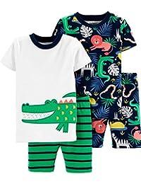 Carter's 4 件套男宝宝太阳图案棉睡衣