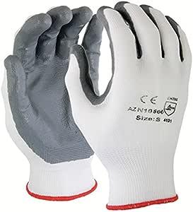 Azusa 尼龙*手套,小号,白色/灰色 小号 N10500 S