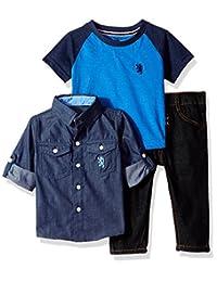 English Laundry 男婴长袖衬衫,T 恤衫和裤子套装(多种款式)