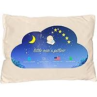 Little One's Pillow - 幼儿枕头,精致*棉外壳,美国手工制作 - 柔软但支撑,可水洗 13 X 18