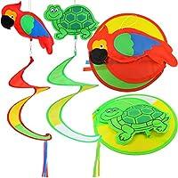 质量是针织面料风转盘户外装饰微风可爱乌龟美丽鹦鹉风扭头