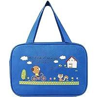 便当午餐盒 – 3层盒容器 – FDA 批准,不含 BPA,成人和儿童用餐盒 1pcs cute lunch bag blue 10.8x7.0x8.26 inches