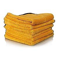 Chemical Guys MIC50706专业级优质超细纤维毛巾 金黄色  16 英寸 x 24 英寸 (6件套装)(亚马逊进口直采,美国品牌)