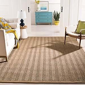 Safavieh 天然纤维系列 NF115P 人字纹天然灰色海草地毯