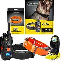 Dogtra ARC 远程训练项圈 - 3/4 英里范围,防水,可充电,震动 - 包括 PetsTEK 狗狗训练响片 黑色,橙色 2 Dogs System - ARC&RX