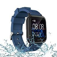 智能手表,健身追蹤器,帶心率、*和*監測器,兼容 IOS 和 Android 手機。 防水活動追蹤器帶彩色屏幕、卡路里和步數,適合男士、女士和兒童。