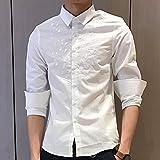 YUYOM优央 男士商务高端长袖衬衫 时尚优雅白衬衫 简约休闲 YC170405