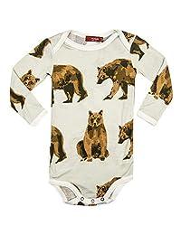 MilkBarn 竹子婴儿长袖连体衣,熊