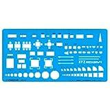 STAEDTLER 模板 室内レイアウト定規 976 07 透明蓝色