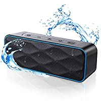 ZoeeTree S1 Pro 蓝牙音箱 蓝牙无线音箱 20瓦 高品质音质和低音 100英尺无线范围 IPX7 100Hs 播放时间 便携式音箱 适用于家庭、户外、旅行等