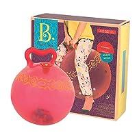 B.Toys 比乐 发光跳球 跳跳球 蹦蹦球 弹力球 儿童健身球 摇摇球 自带打气筒 红色款 婴幼儿童益智玩具 礼物 3岁+ BX1510Z