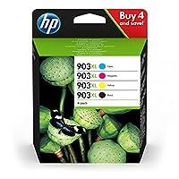 HP 903XL Multipack Druckerpatronen (mit hoher Reichweite für HP Officejet, HP Officejet Pro) schwarz, rot, gelb, blau