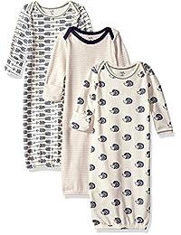 自然 touched 天然婴儿3只装有机棉睡袍  刺猬 0-6 Months