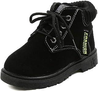 Komfyea 幼儿男孩女孩登山靴经典系带及踝户外靴