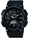 Core Men's AQ-S810W-1A2VEF Quartz Watch with Black Dial Analogue Digital Display and Black Resin Strap
