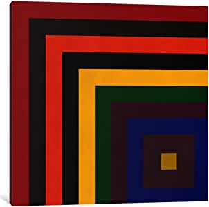 "iCanvasART 1 Piece Modern Art-Color Stacks Canvas Print by iCanvas, 12 x 12""/1.5"" Deep"