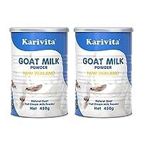 【2罐装】Karivita 新西兰进口羊奶粉 高钙全脂羊奶粉450g/罐 (18年新鲜生产)