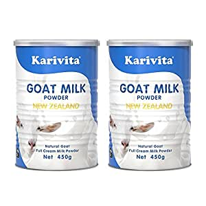 【2罐装】Karivita 新西兰进口羊奶粉 高钙全脂羊奶粉450g/罐