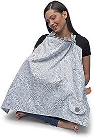 Boppy 哺乳巾,波西红/灰色