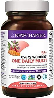 NEW CHAPTER 新章 女士复合维生素 每日维生素55+ 发酵益生活菌+全食物+虾青素+维生素D3 + 维生素B 72粒