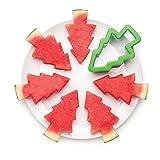 Monkey Business Pepo 森林圣诞树饼干模具,不锈钢,绿色