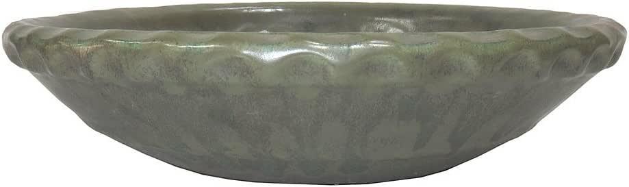 "brussel ' s 矩形 bonsai 釉陶瓷锅 Sesame Green 11 """