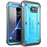 Galaxy S7 手机壳,SUPCASE 全包坚固皮套,带内置屏幕保护膜,适用于 Samsung Galaxy S7(2016 年版),Unicorn Beetle PRO 系列 - 零售包装SUP-GalaxyS7-UBPro-Blue/Black  (Blue/Black)