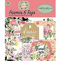 Carta Bella Paper Company CBBO98025 植物花园框架和标签 Ephemera 粉色、*、黑色、红色、奶油色
