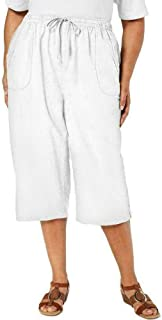 Karen Scott 女式加大码 EDNA 棉质套穿七分裤