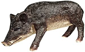 Design Toscano Razorback Wild Boar Statue 黑色