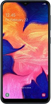 Samsung Galaxy A10 32GB A105G/DS LTE 解锁 GSM 6.2 英寸 HD+ 智能手机 - 国际版SM-A105G/DS 黑色