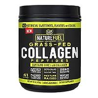 Nature Fuel Grass-Fed Collagen Peptide Powder, Gluten Free, Keto & Paleo Friendly, Unflavored, 41 Servings