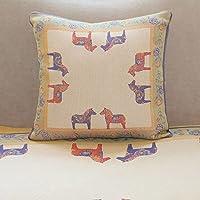 ekelund 瑞典 设计师作品 马抱枕腰枕靠垫纯棉提花家居布艺 40X40cm 马