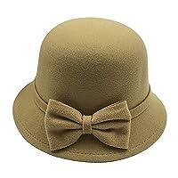 Kabinga D63,女式毛毡帽复古驼色,中号