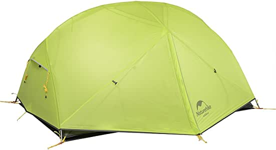 Naturehike Mongar 2 人徒步帐篷 3 季自由站立轻质徒步帐篷带帐篷飞适用于户外活动 6927595708088