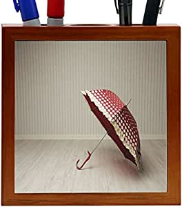 Rikki KnightTM vintage Art Designs Design 5 Inch Tile Wooden Tile Pen Holder