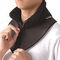 BSTD 百傲鲨 日本保暖护颈带颈椎脖子保暖套脖 空调屋防寒护颈椎 柔软舒适时尚 黑色(亚马逊自营商品, 由供应商配送)