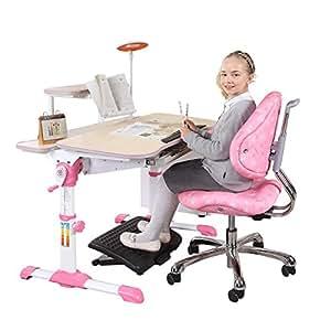 【送读书架+原装椅套】心家宜-手摇同步升降儿童学习桌椅套装 学生书桌 儿童写字桌 95CM高端儿童书桌 公主粉1 M101R_M203R1 (供应商直送)