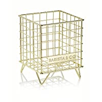 Barista & Co Pod Cage 咖啡胶囊架,电动铜母色 电镀金