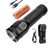 Rofis MR70 CREE XHP70.2 P2 LED 3500流明多功能超亮可充电和放电 26650搜索手电筒双光源战术手电筒(*版)