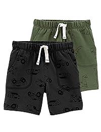 Carter's 卡特男童 2 件装法式厚绒布短裤,