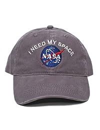 NASA I Need My Space 颜料染色刺绣帽男女通用成人多色