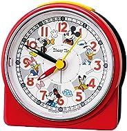 セイコークロック 置き時計 赤 本体サイズ:8.9×8.6×4.7cm 目覚まし時計 ミッキーマウス アナログ ミッキー&フレンズ FD