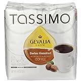Tassimo GEVALIA 瑞士榛子咖啡,中号,16 片 T 形圆盘 16 Count (Pack of 3)