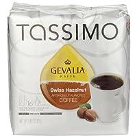 Tassimo GEVALIA 瑞士榛子咖啡,中號,16 片 T 形圓盤 16 Count (Pack of 3)