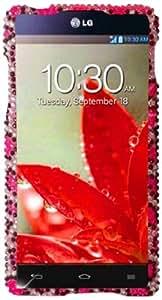 Qtech QT-1385 Unique Dazzling Diamond Bling Case for LG Optimus G/Eclipse 4G LTE Sprint - 1 Pack - Retail Packaging - Pink Leopard