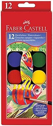 Faber-Castell 辉柏嘉 水彩颜料套装,带刷子-儿童优质耐洗水彩画
