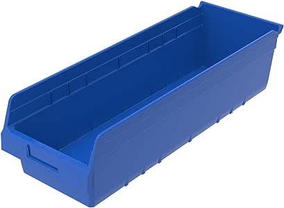 Akro-Mils 30084GREEN ShelfMax 塑料嵌套架子箱,长 23-5/8 英寸 x 宽 8-3/8 英寸 x 高 6 英寸 30084BLUE